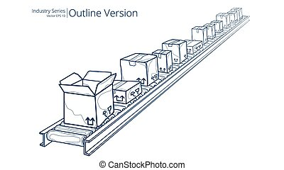 Conveyor Belt. - Vector illustration of conveyor belt,...