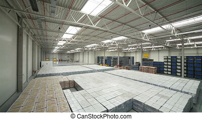 Modern warehouse full of goods - Modern storehouse full of...