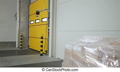 Shipping a package through yellow gate