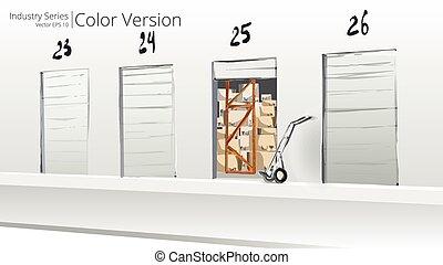 Loading Dock - Vector illustration of Loading Dock, Color...