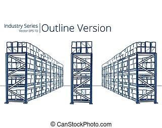 Warehouse Shelves.