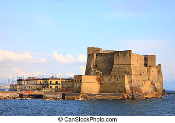 Castel dell'Ovo - background shot of Castel dell'Ovo in...
