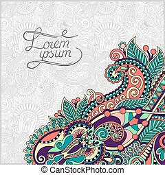 paisley design on decorative floral background for...