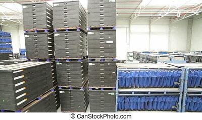 Modern warehouse full of goods - A modern warehouse full of...