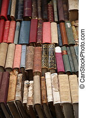 old books - close up shot of old books