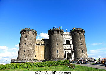 Castel Nuovo is one of famous landmark in Naples Italy