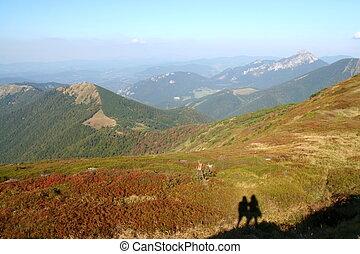 Mala Fatra Mountains - Mala Fatra mountains with a silhouete...