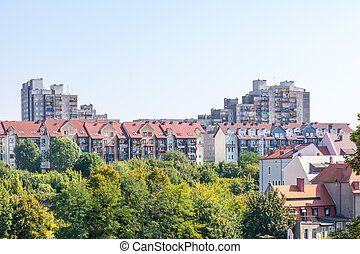 Housing Block in Poland - View from Goerlitz in Saxony to a...