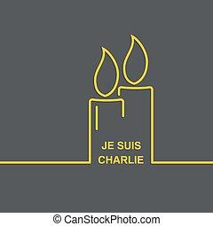 Symbol of solidarity in Paris Je suis charlie I am Charlie...