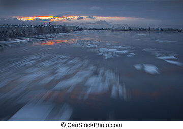 St Petersburg, Russia, Neva, winte - Winter in St...