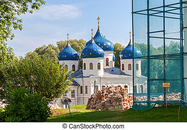 St. George's Monastery in Veliky Novgorod, Russia