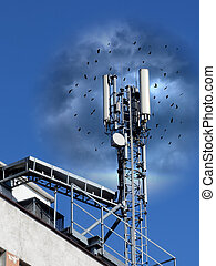 Mobile antenna - Adverse effects of radiofrequency radiation...