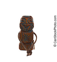 Carved wooden idol is a symbol of wealth, prosperity and well-be