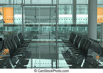 Airport Waiting Room - Modern Airport Waiting Room with...