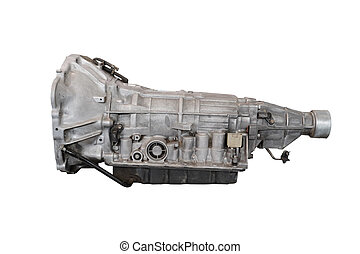transmission - gearbox isolated under the white background