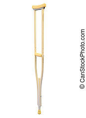 crutch for rehabilitation isolated under the white...