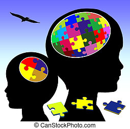 Brain Development - Concept sign of promoting intellectual...