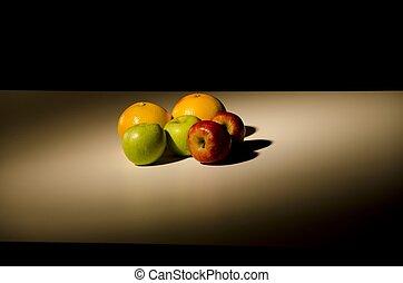 still life of fruit in a new light