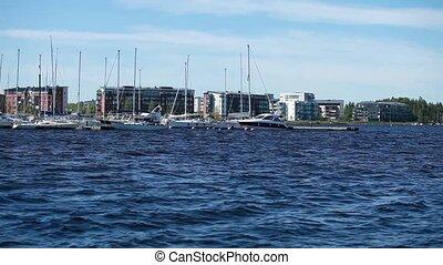 yachts Marina - yachts in the harbor Marina Lappeenranta,...