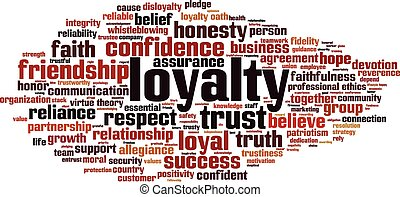 Loyalty word cloud concept Vector illustration