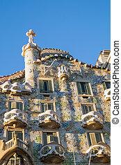 Casa Batllo in Barcelona - The facade of the famous Casa...