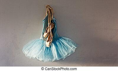 pointe shoes on tutu - a blue velvet romantic tutu is...