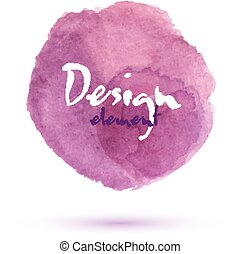 Pink watercolor stain isolated on white - Pink watercolor...
