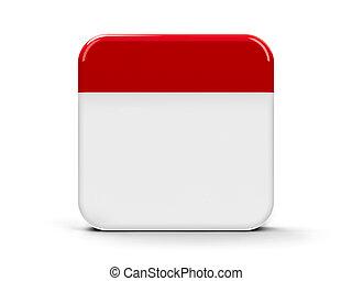Blank icon calendar - Empty calendar web button,...