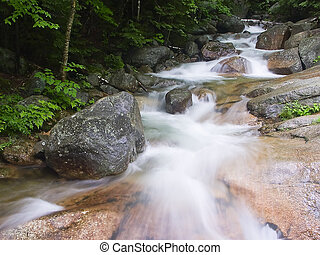"Above The Flume - Stream above ""The Flume\"" at Franconia..."