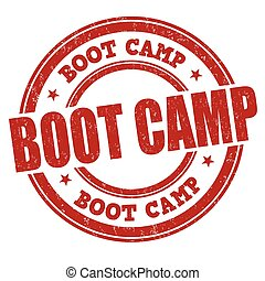Boot camp stamp - Boot camp grunge rubber stamp on white...