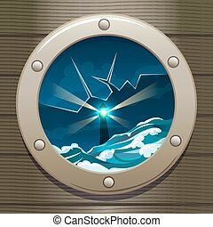 Lighthouse - Illustration of the lighthouse in stormy sea...