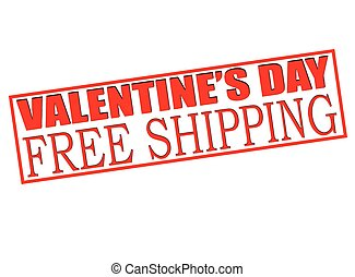 Valentine day sale free shipping - Rubber stamp with text...
