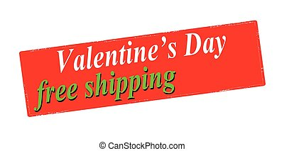 Valentine day free shipping - Rubber stamp with text...