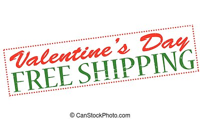 Happy Valentine day sale - Rubber stamp with text Valentine...