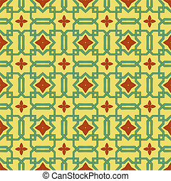 Celtic Flower Wall Paper - A pale green Celtic inspired...