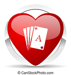 casino valentine icon hazard sign