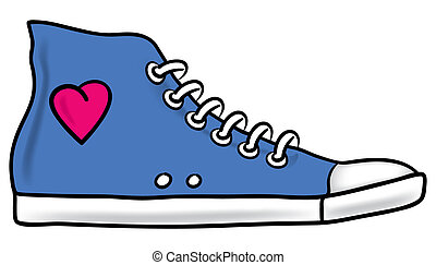 Running shoe - Illustration of generic blue running shoe...