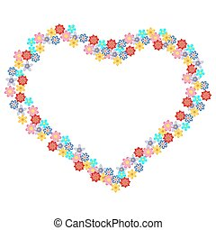 Floral heart-shape.