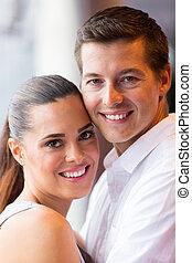 couple close up portrait