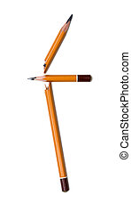 broken pencil on a white background