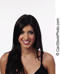 Smiling Portrait Woman Of Middle Eastern Ethnicity - Woman...