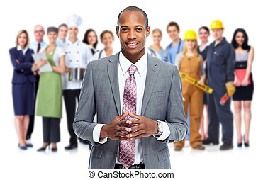Businessmen and workers group. Team Working. - Businessmen...