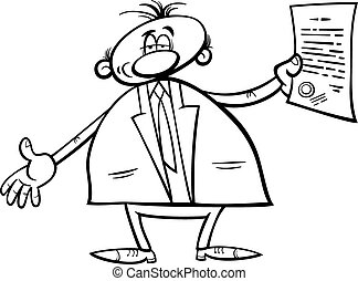 man with diploma coloring page