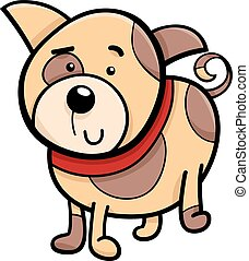 spotted puppy cartoon illustration