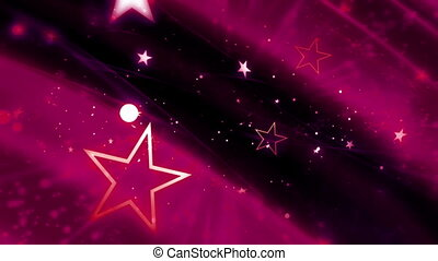 Magenta Cosmic Stars Loop - Animated Background Magenta...