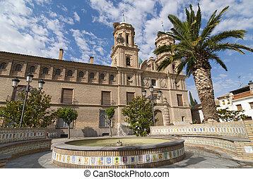 Villafranca de Ebro (Zaragoza, Aragon, Spain), Townhall and foun
