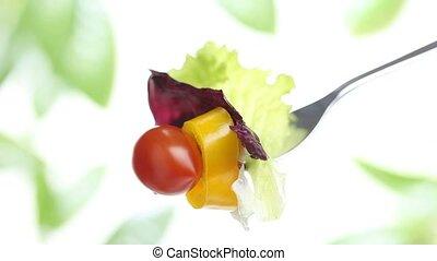 fork lettuce salad tomato pepper - fork lettuce salad...