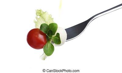 fork lettuce salad tomato oil - fork lettuce salad leaves,...