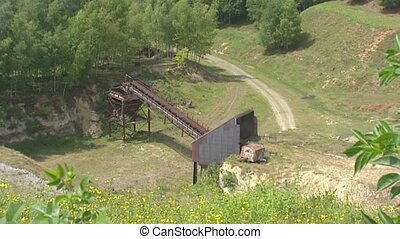 High angle view Marl quarry t Rooth in the Dutch Province...