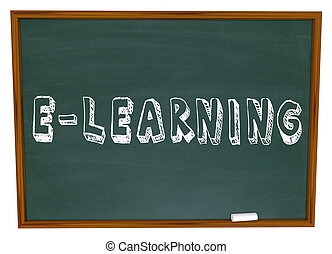 E-Learning School Chalkboard Online Internet Web Based...
